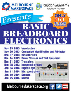 Basic Breadboard Electronic Series- Sign-up now live on meetup!