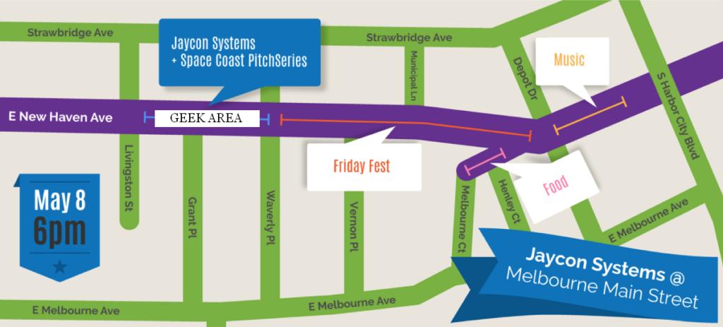 Melbourne Friday Fest 2015-05-08 map.