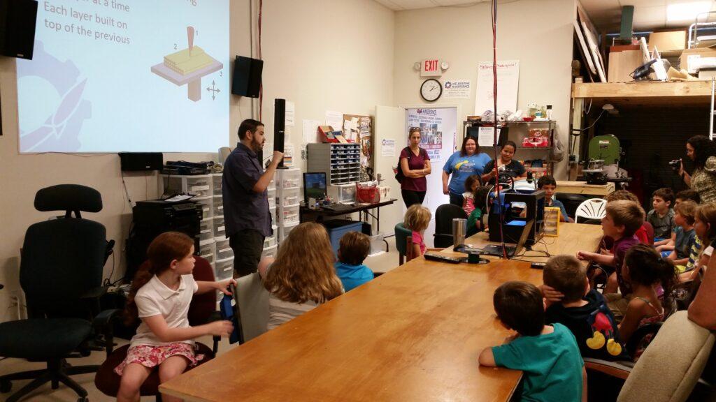 Home School 3D Printer Class 2015-08-26