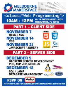 Sign up for our web development classes!